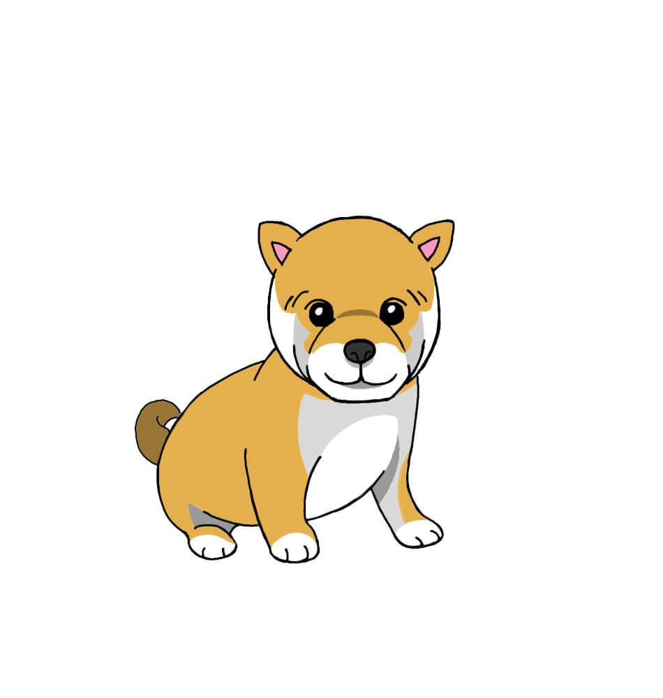 柴犬の無料手書きイラスト