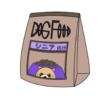 シニア用のドッグフードのイラスト