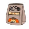 尿石用のドッグフードのイラスト