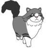 ノルジャン(猫)のかわいい手書き風イラスト
