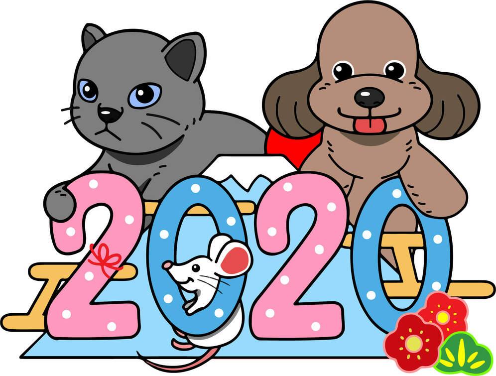2020年(令和2年)カレンダーのマスコット