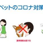 ペットのコロナ対策のイラスト