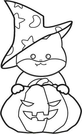 ハロウィン柴犬のぬり絵イラスト