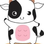 【2021年丑年】かわいい牛のイラスト