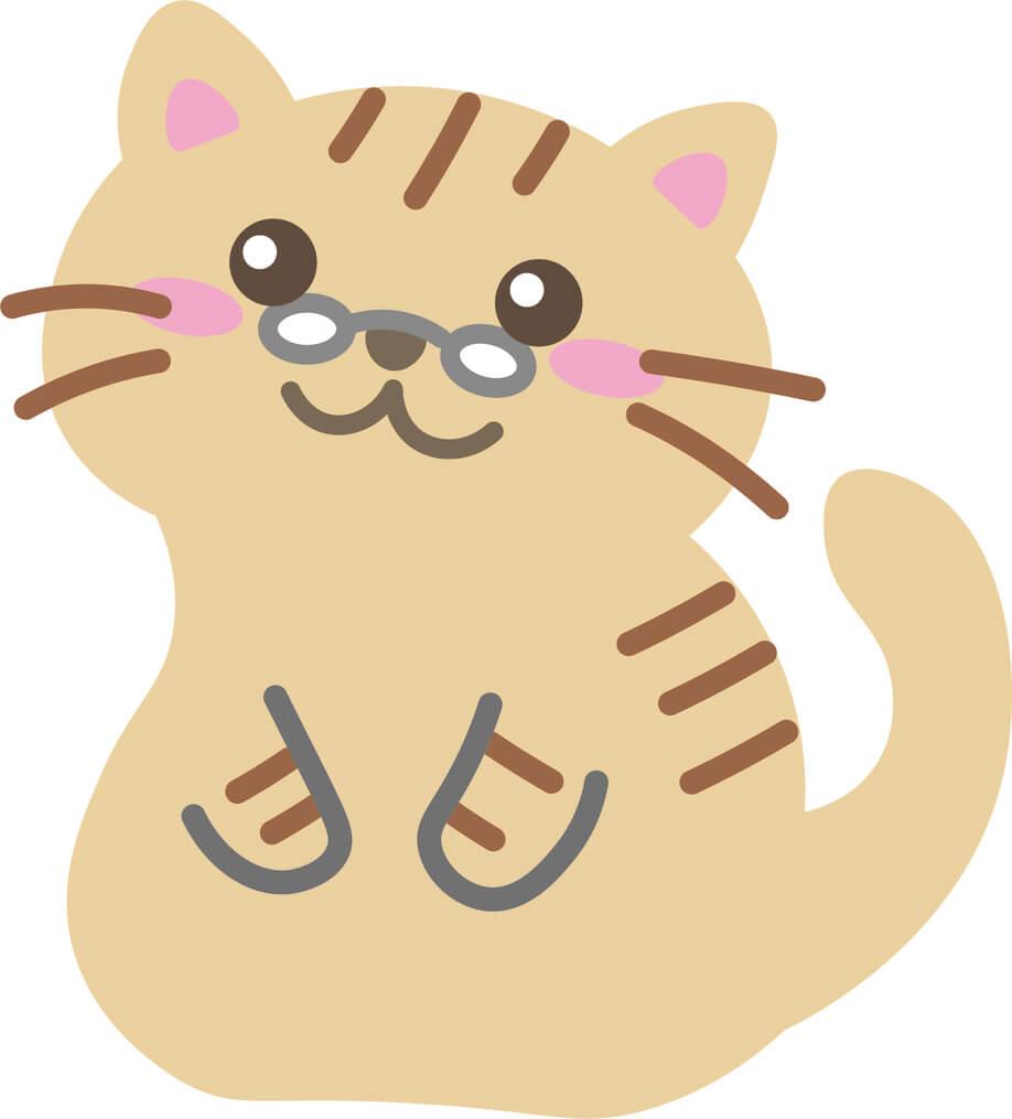 老猫(茶とら)のイラスト