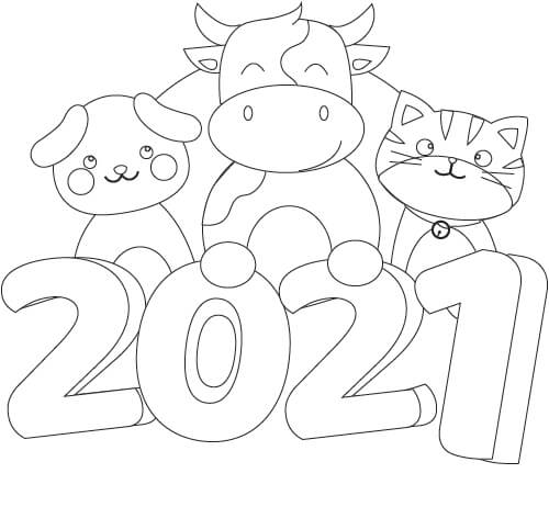 ペットの塗り絵【2021】犬猫】
