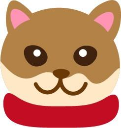クリスマスモチーフの犬無料イラスト