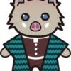 【鬼滅の刃風】伊之助*猪のイラスト【無料】