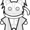 【鬼滅の刃風】伊黒小芭内っぽい*パピヨンイラストのぬり絵【無料】