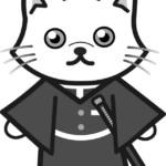 【鬼滅の刃風】時透無一郎っぽい*ペルシャ(白黒)のイラスト【無料】