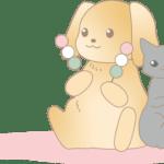 お花見(犬猫)イラスト