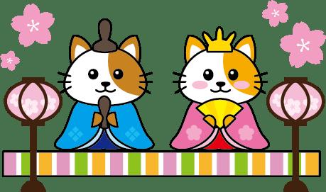ひなまつり猫イラスト