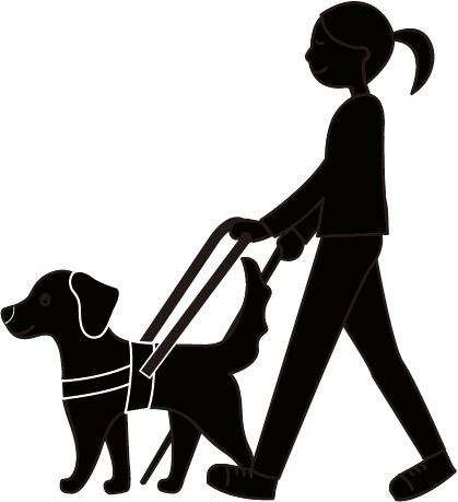盲導犬シルエット