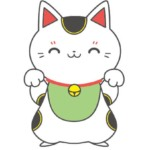 招き猫(白色・ぶち・黒色)