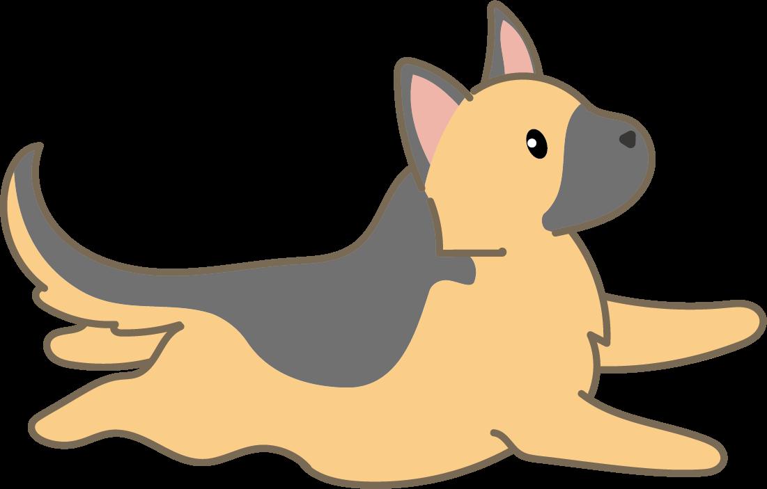 犬・シェパード(走る)