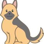 犬・シェパード(座る)