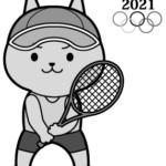 オリンピック(テニス)猫 白黒