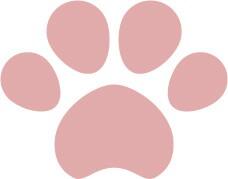 犬猫の肉球(足あと)薄いピンク