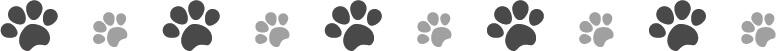 犬猫の肉球(足あと)黒色のラインイラスト