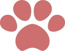 犬猫の肉球(足あと)ピンク