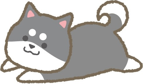 ゆるい柴犬(グレー)