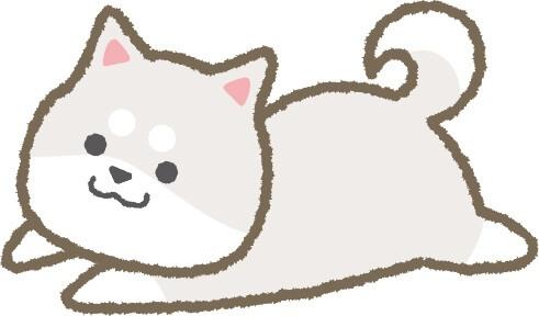 ゆるふわ柴犬(白色)