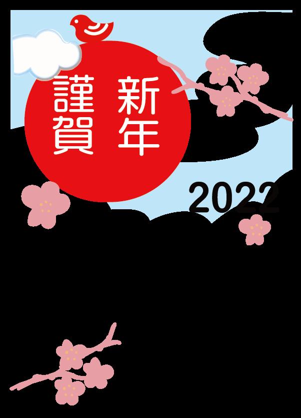 2022年賀状【寅❸】 枠のみ】