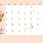 2022年(令和3年)11月のペットカレンダー イラスト