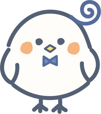 かわいい鳥(青色)