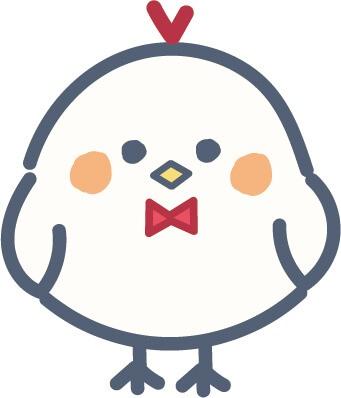 かわいい鳥(赤色)