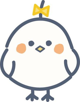 かわいい鳥(黄色)