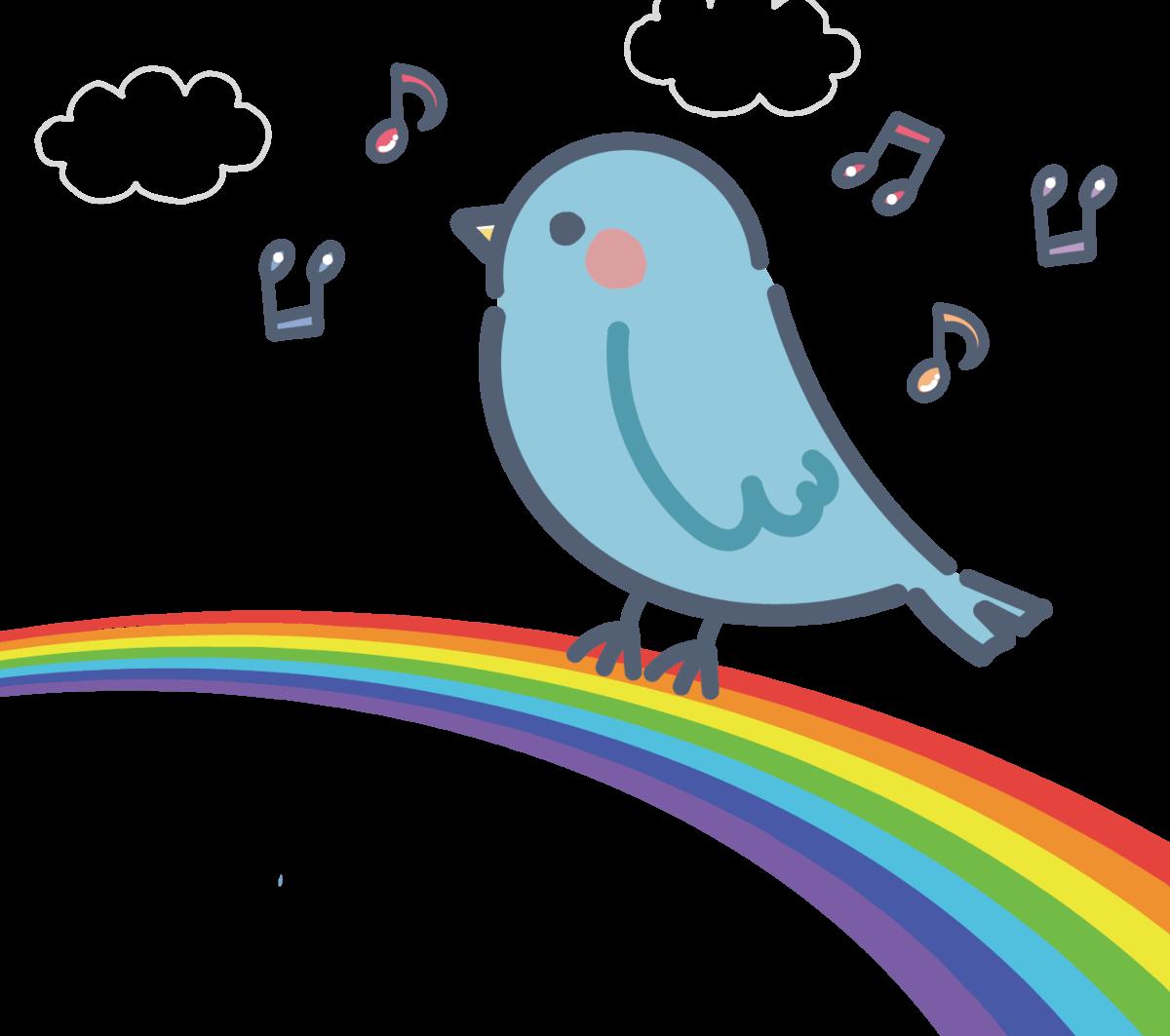 虹の上で歌う「青い鳥」