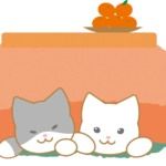 【2021年丑(うし)年】寒中見舞いパーツ(猫)のイラスト❶