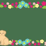 花のフレーム(犬・猫入り)