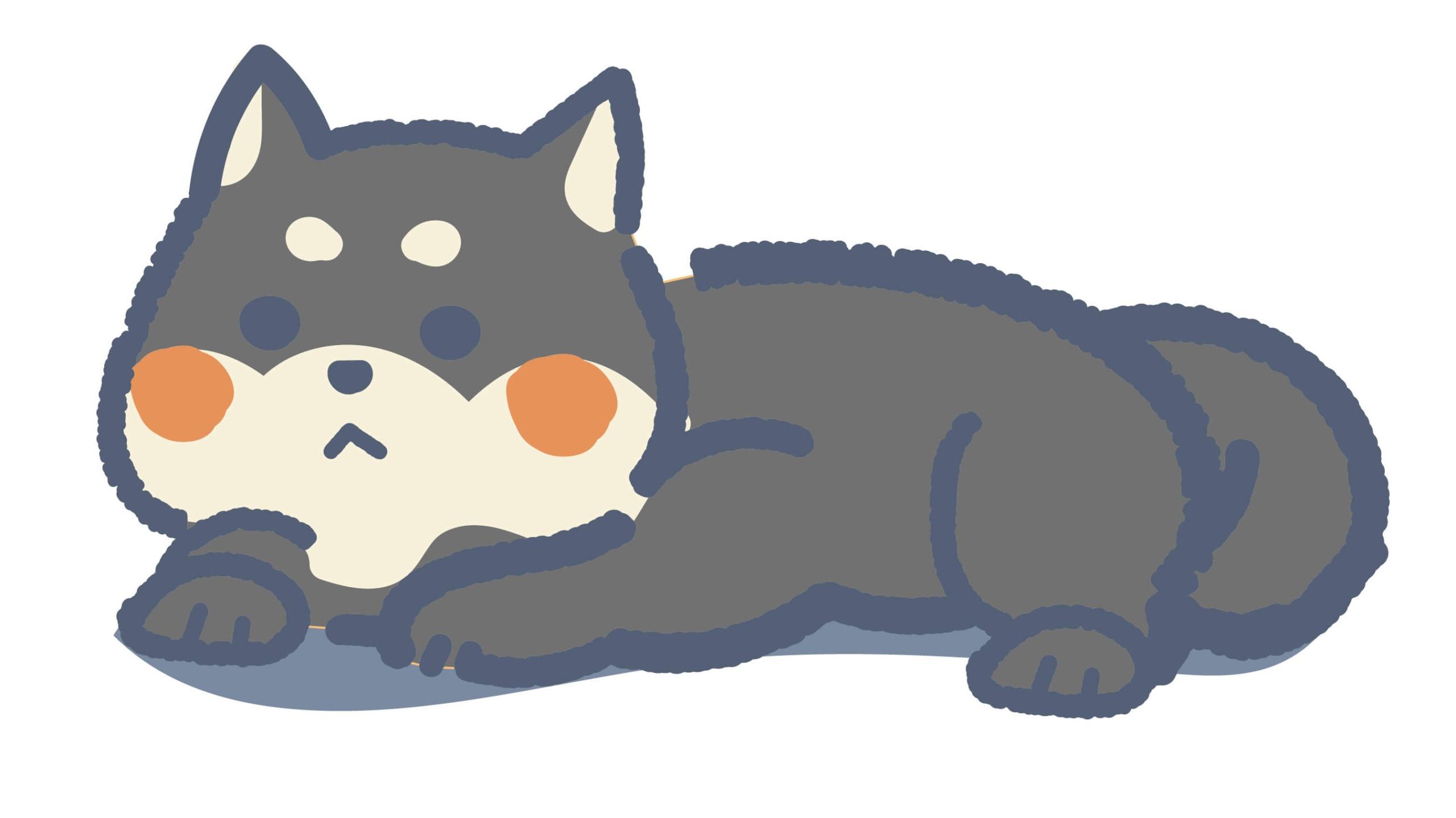ふるゆわ柴犬(黒色)