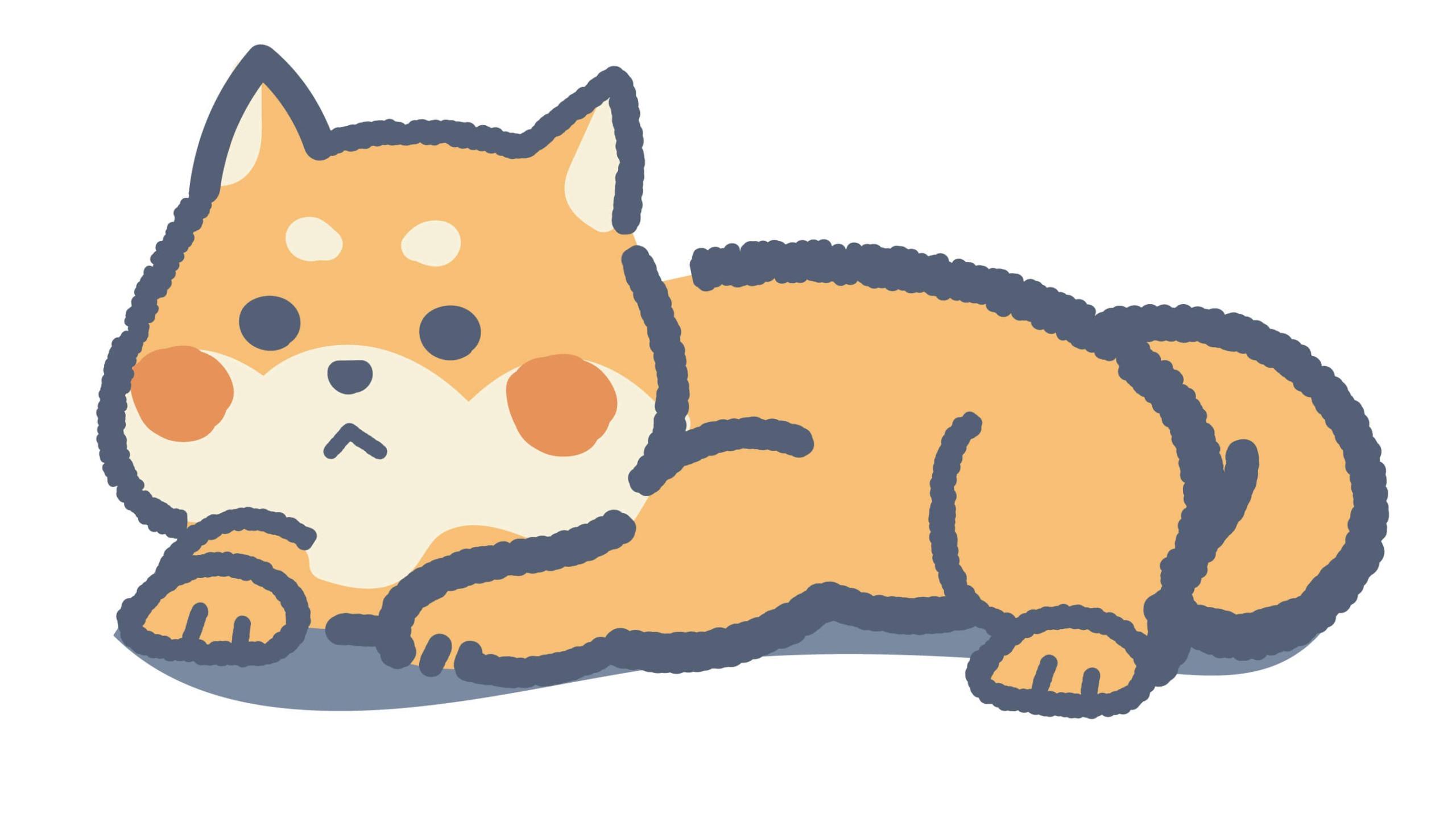 ふるゆわ柴犬(赤色)
